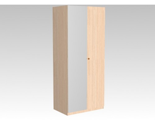Шкаф двустворчатый полузеркальный